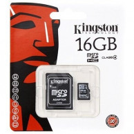 Kingston microSDHC karta 16GB class 10 + adaptér