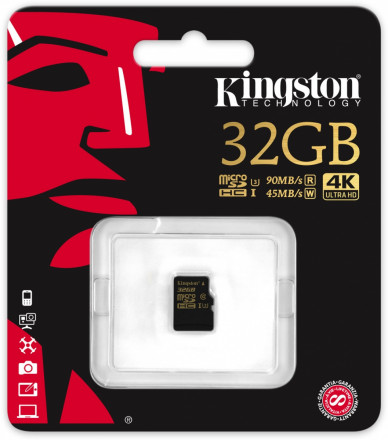 Kingston Micro SDHC 32GB class 10 UHS-I U3