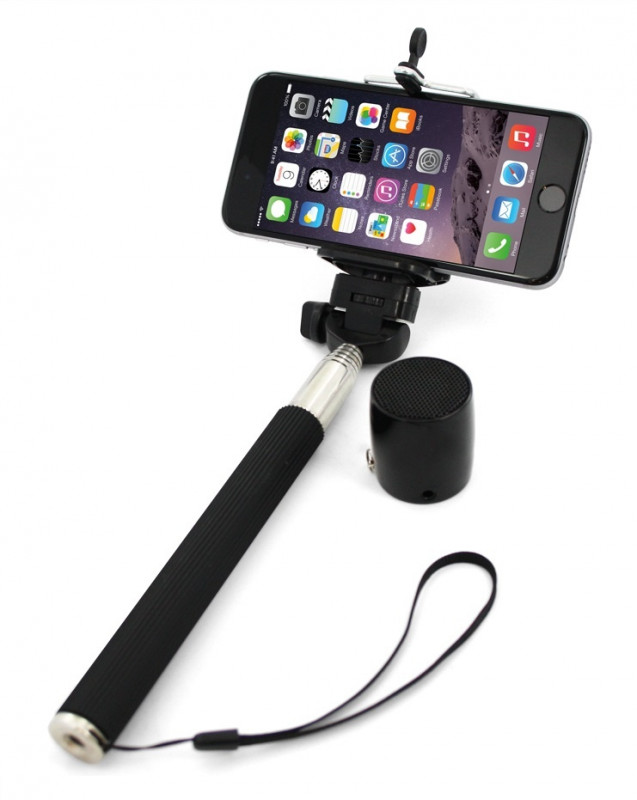 XLAYER Selfie-Stick a Bluetooth Speaker černá