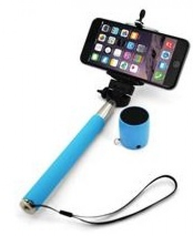 XLAYER Selfie-Stick a Bluetooth Speaker modrá