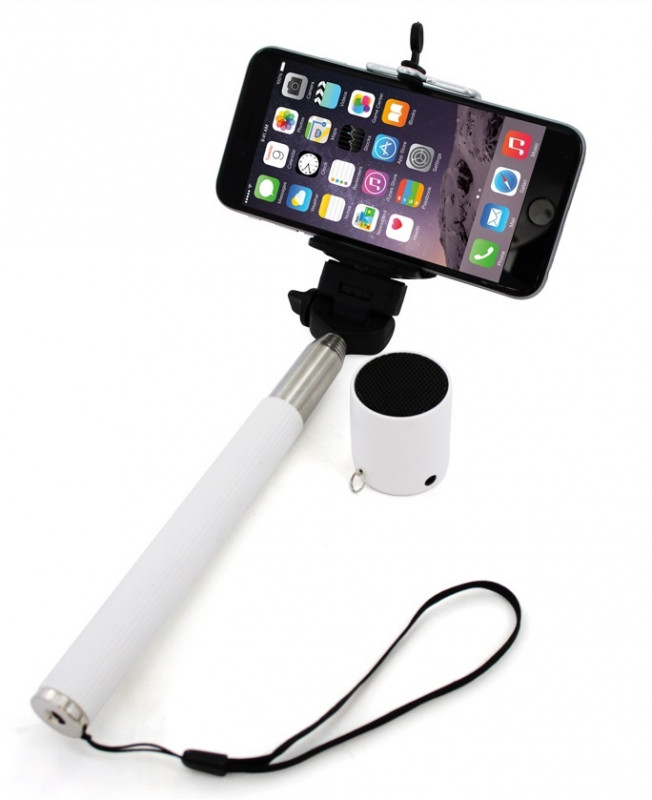 XLAYER Selfie-Stick a Bluetooth Speaker bílá