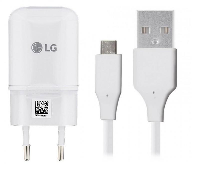 LG napájecí set bílý adaptér + USB-C kabel 1m